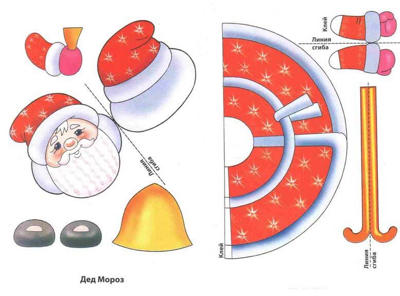 Игрушки на елочку из бумаги