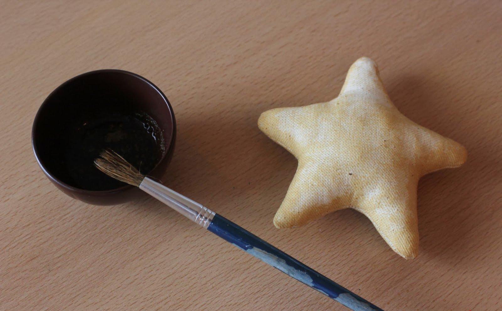 Звезда в колпаке Санты, игрушка на елочку