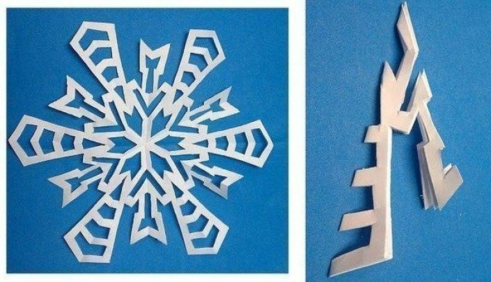 Схема снежинки 12