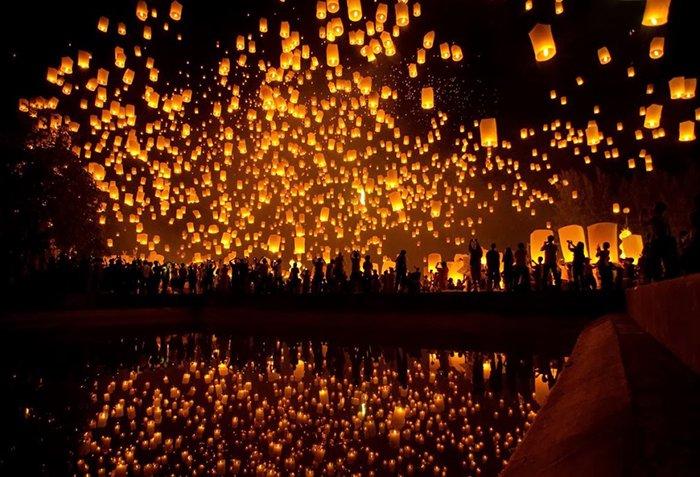 Запуск небесных фонариков в Таиланде, фото 1