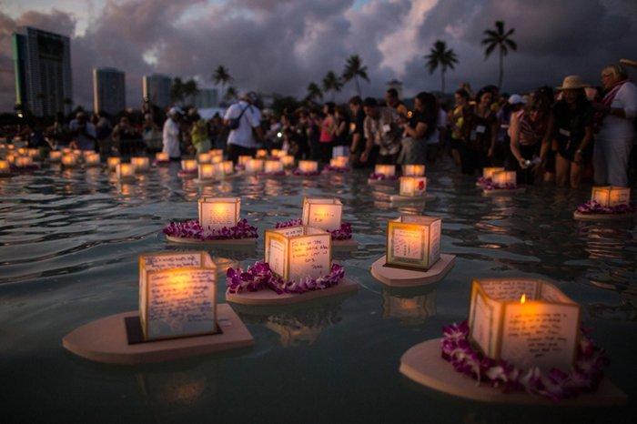 Фестиваль плавающих фонариков на Гавайях, фото 1