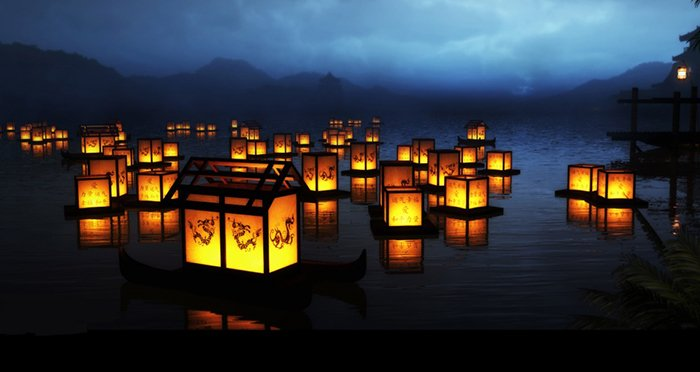 Фестиваль плавающих фонариков на Гавайях, фото 2