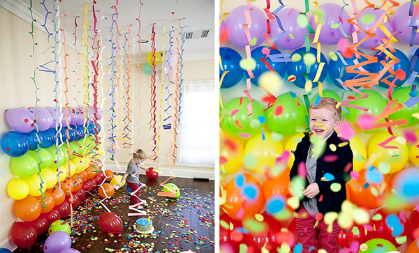 Детский День рождения дома: украшение интерьера