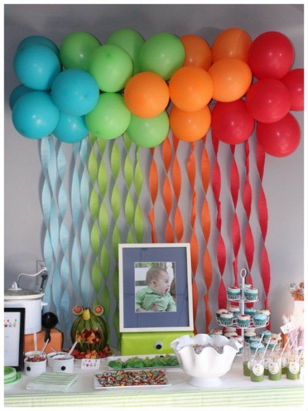 Детский День рождения дома: украшение стола
