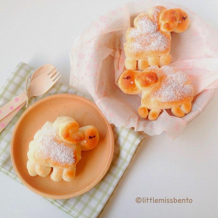 Печенье в виде овечек, барашков