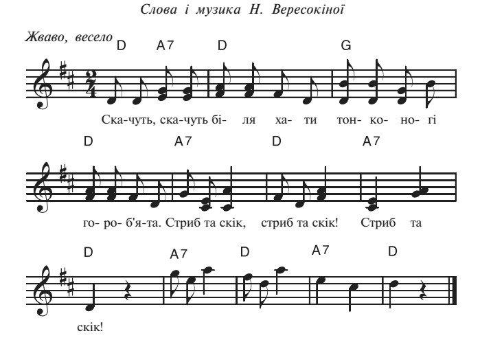 Сценарій осіннього балу для дитячого садка, пісня 3