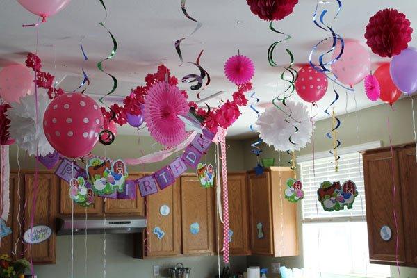 Детский День рождения дома: оформление интерьера