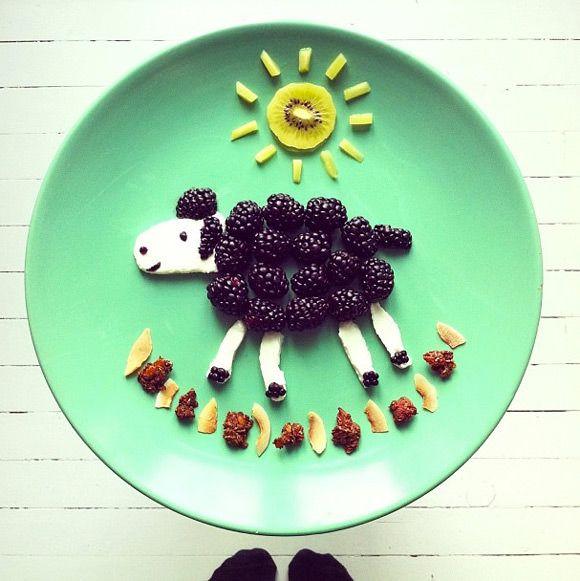 Салаты в виде овечек, барашков