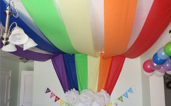 Дитячий День народження дома, прикрашаємо стелю