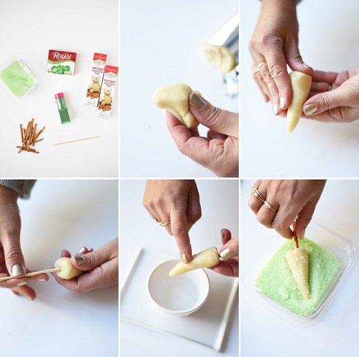 Ялиночки на новорічний торт, рецепт