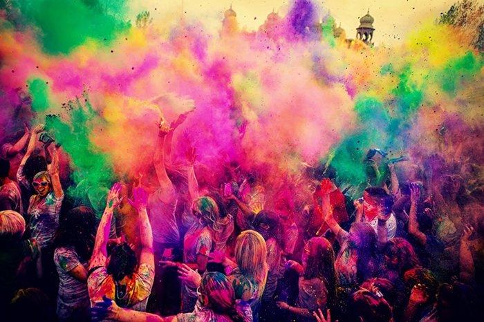Холи — впечатляющий фестиваль красок в Индии, фото 1