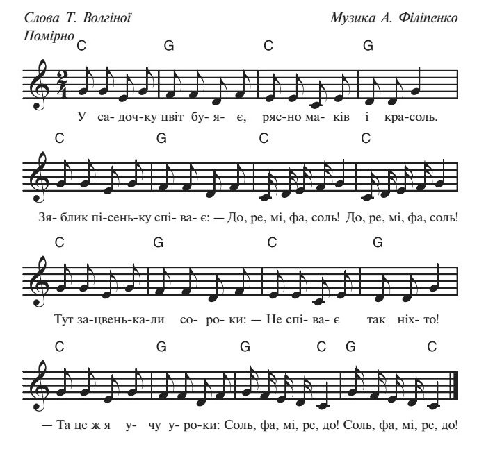 Сценарій осіннього балу для дитячого садка, пісня 2