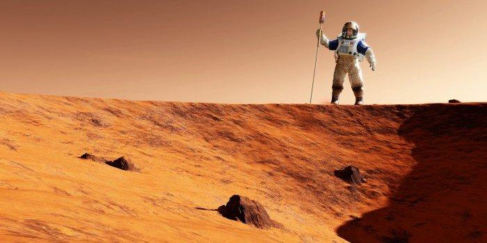 Астронавт на Марсі