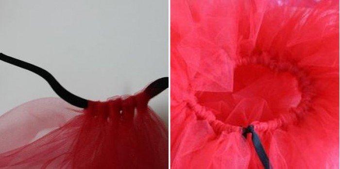 Пишна спідничка для костюму бедрика (божої корівки)