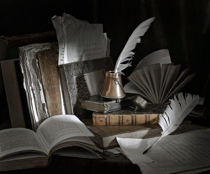 Книги, перо