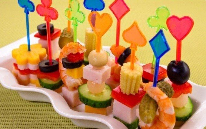 Блюда для детского дня рождения - канапе