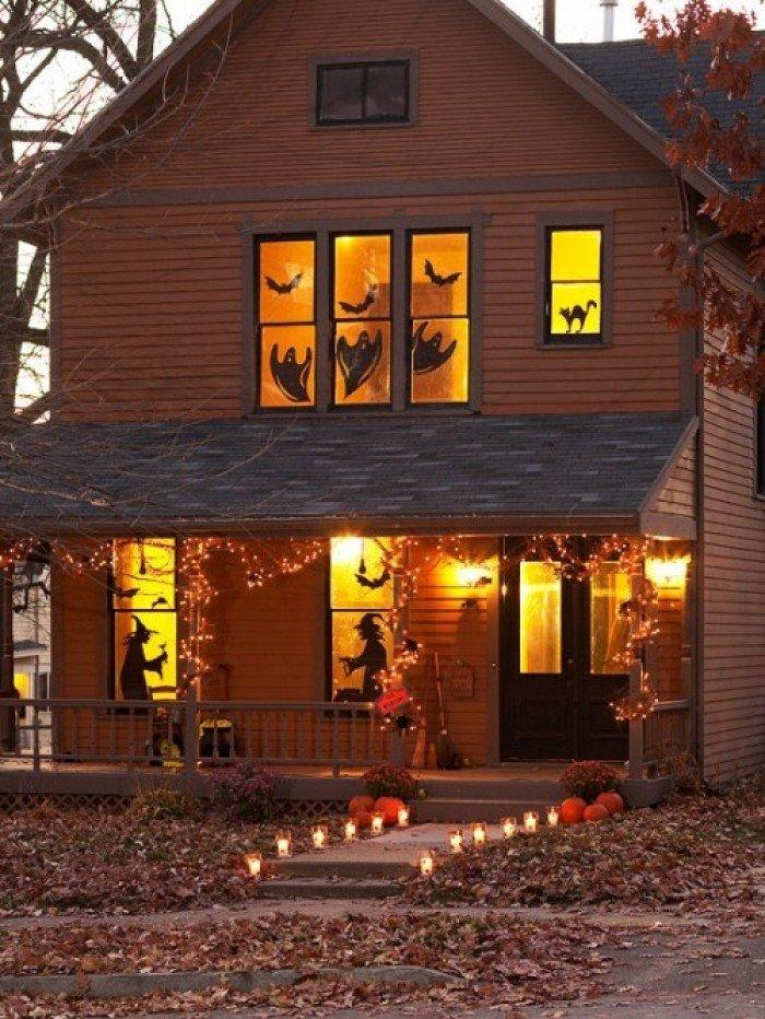 Хэллоуин. Оформление праздника. Декор на окнах
