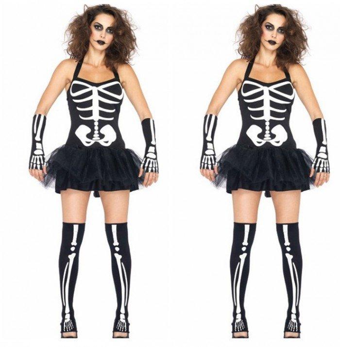 Хэллоуин. Костюм скелета