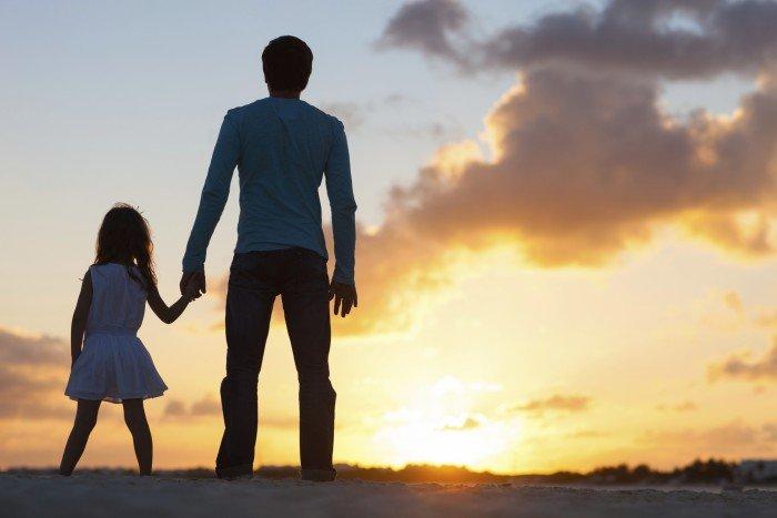 День отца. Папа и дочка