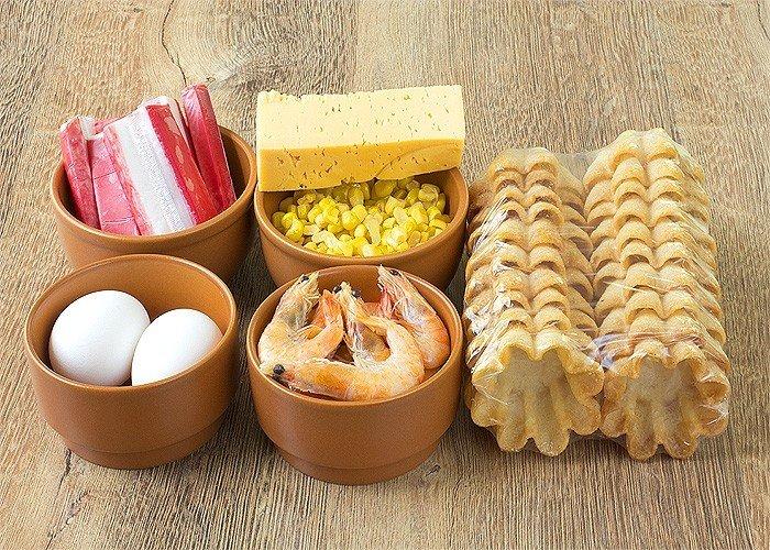 Блюда для детского дня рождения - ингредиенты для салатов