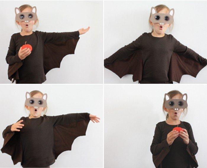 Костюм летучей мыши на Хэллоуин
