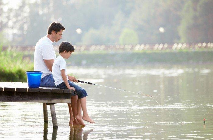 День батька. Рибалка