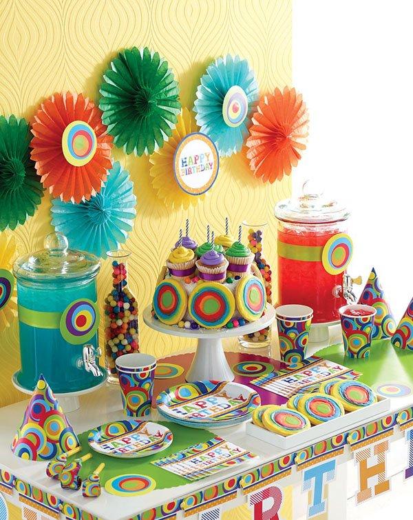 Детский День рождения дома: оформление стола