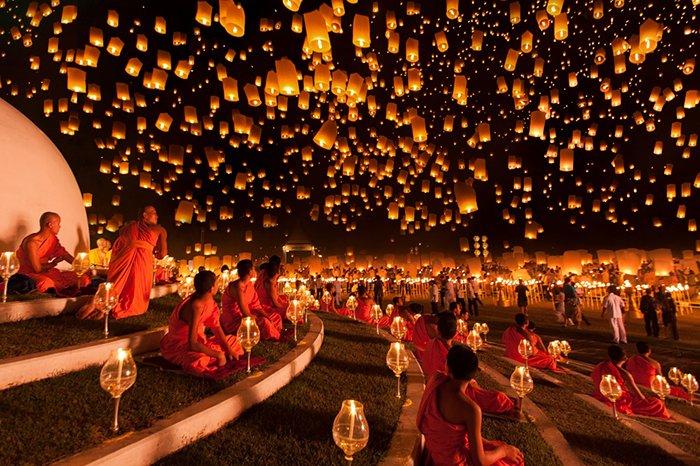 Запуск небесных фонариков в Таиланде, фото 2