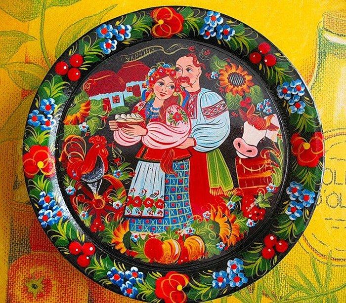 Петриківський розпис на посуді