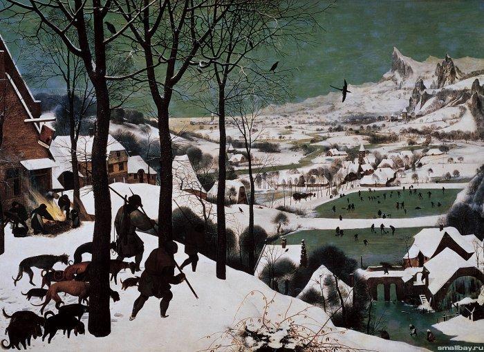 Зимние рисунки и зимние пейзажи известных художников, фото 1