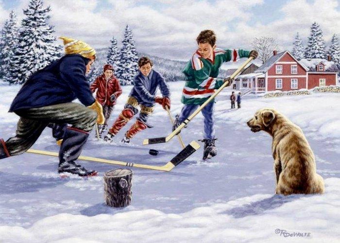 Зимние рисунки и зимние пейзажи известных художников, фото 17