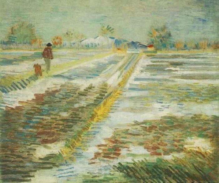 Зимние рисунки и зимние пейзажи известных художников, фото 3