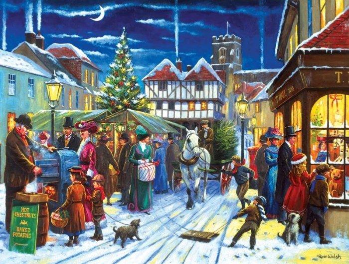 Зимние рисунки и зимние пейзажи известных художников, фото 15