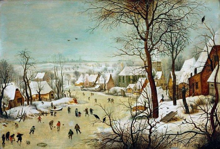 Зимние рисунки и зимние пейзажи известных художников, фото 6