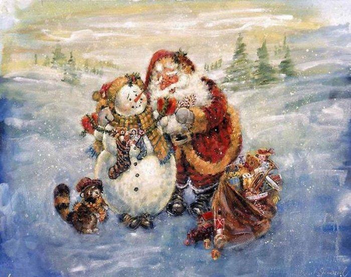 Зимние рисунки и зимние пейзажи известных художников, фото 26