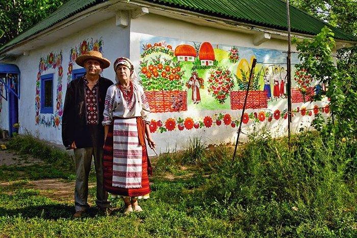 Петриковская роспись в украинском быту