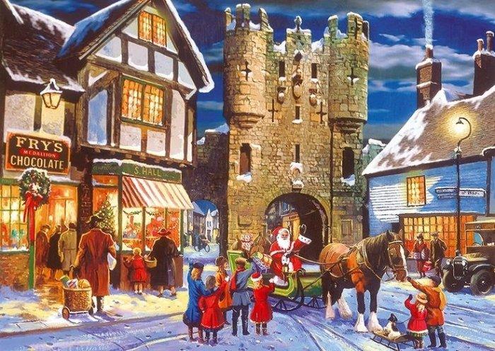 Зимові малюнки і зимові пейзажі відомих художників, фото 13