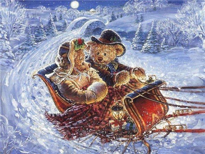 Зимние рисунки и зимние пейзажи известных художников, фото 27