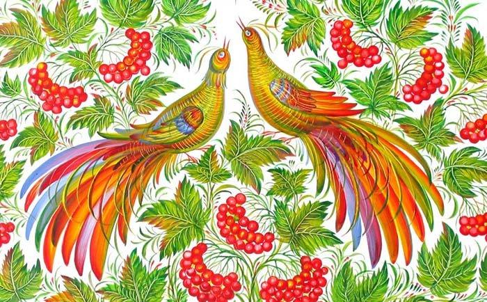 Петриковская роспись рисунок