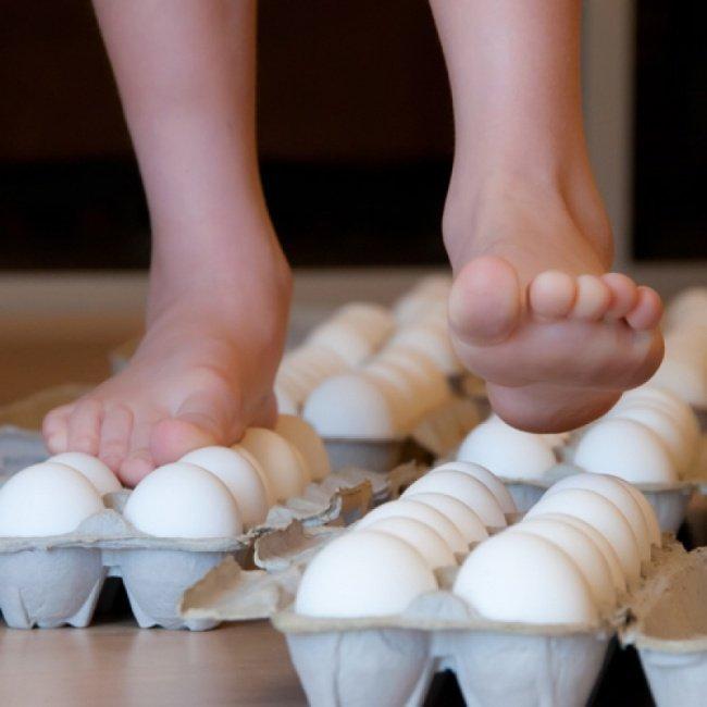 Эксперимент Прогулка по яйцам