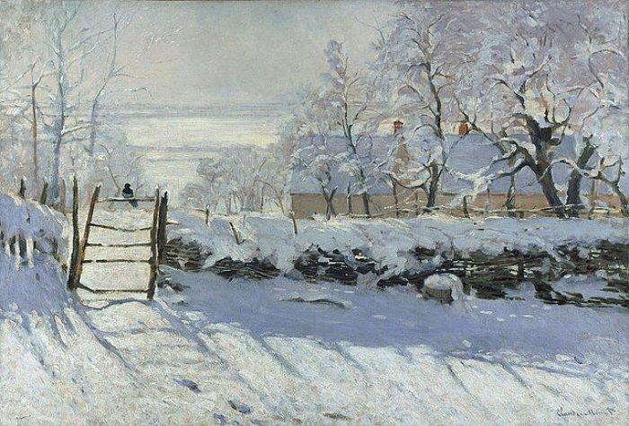 Зимние рисунки и зимние пейзажи известных художников, фото 2