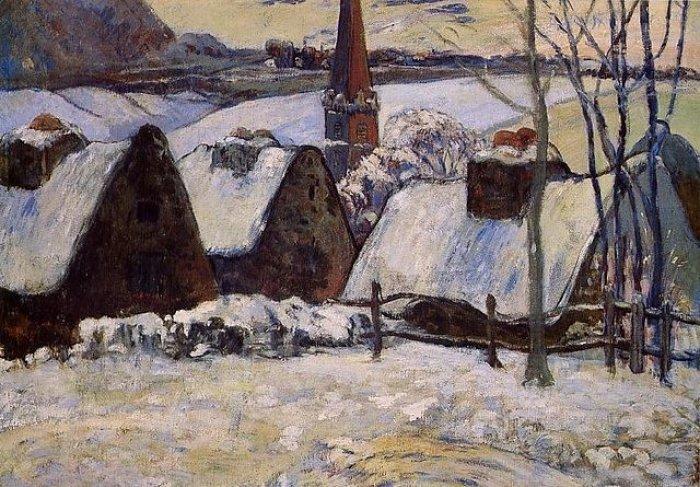 Зимние рисунки и зимние пейзажи известных художников, фото 4