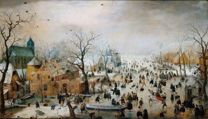 Зимние рисунки и зимние пейзажи известных художников, фото 5