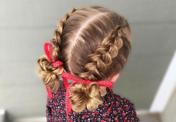 плетіння коси зі стрічкою