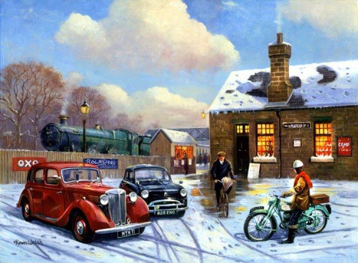Зимние рисунки и зимние пейзажи известных художников, фото 14