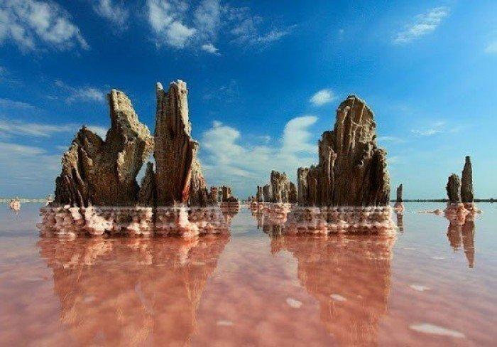 Кояшское озеро в Крыму, розовое озеро - фото 1