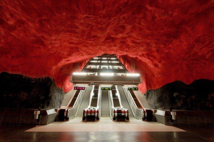 Красивые станции метро в Стокгольме, фото 9