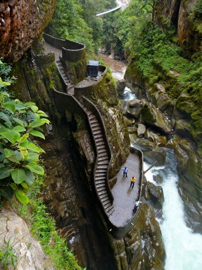 Известные лестницы мира. Необычная лестница в Эквадоре