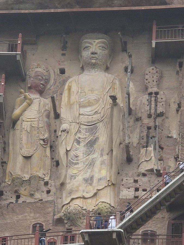 Пещерный монастырь Майцзишань в Китае. «Пшеничная гора», фото 5