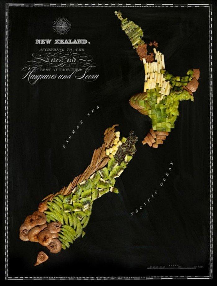 Їстівна карта світу — фуд дизайн, фото 5